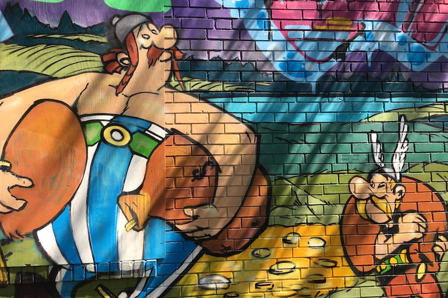 asterix mural philadelphia obelix