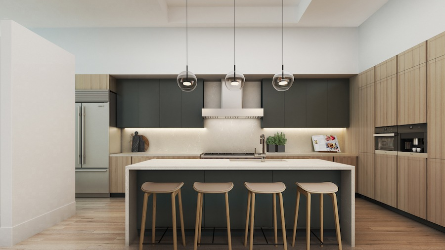 condo for sale old city arch st adaptive reuse kitchen