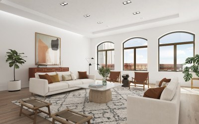 condo for sale old city arch st adaptive reuse living room