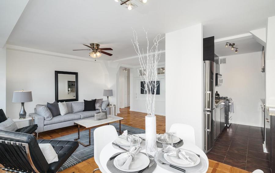 condo for sale rittenhouse square double unit main living area and kitchen