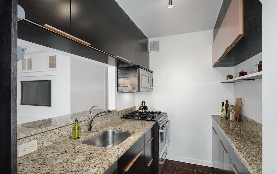 condo for sale rittenhouse square double unit kitchen