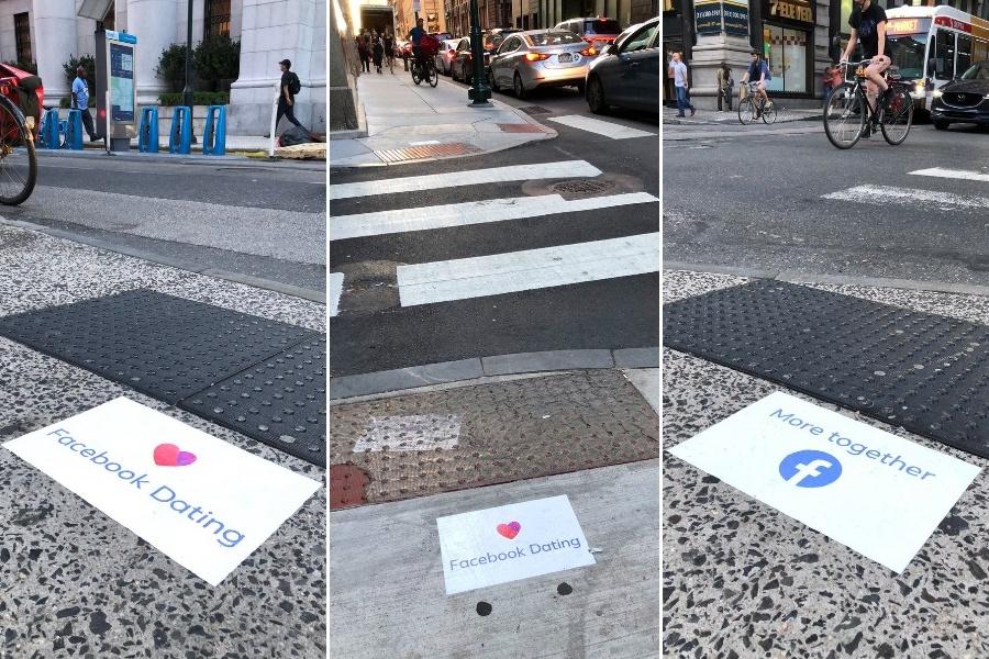 facebook sidewalk ads