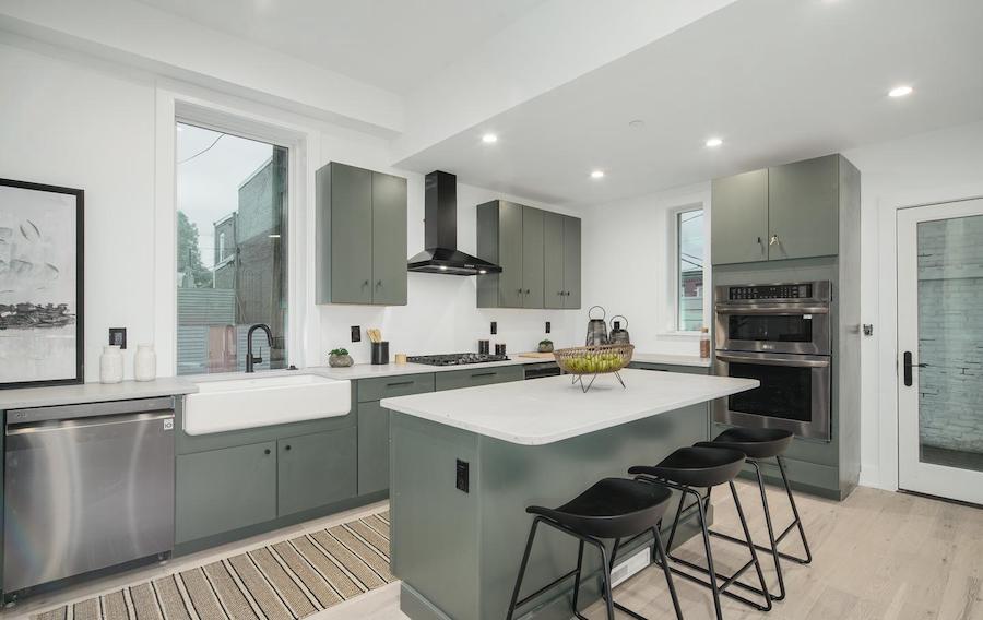 house for sale fairmount rehab kitchen