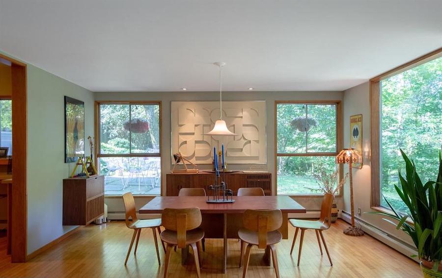 house for sale barren hill midcentury modern dining room