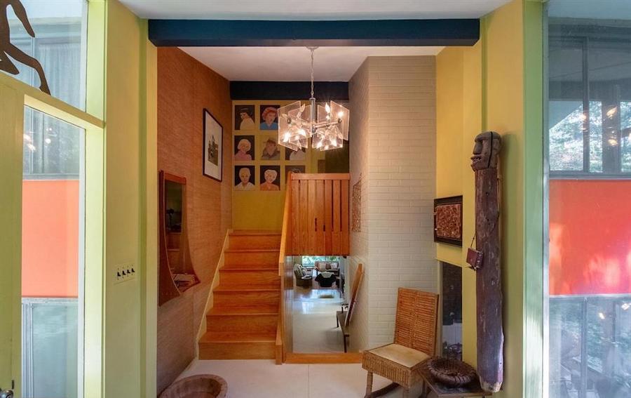 house for sale barren hill midcentury modern foyer