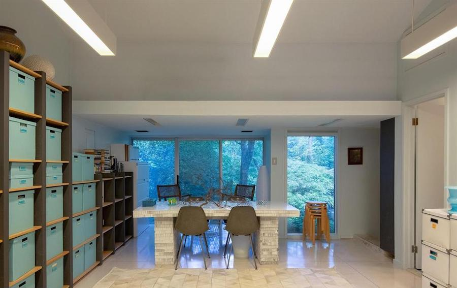 house for sale barren hill midcentury modern office wing