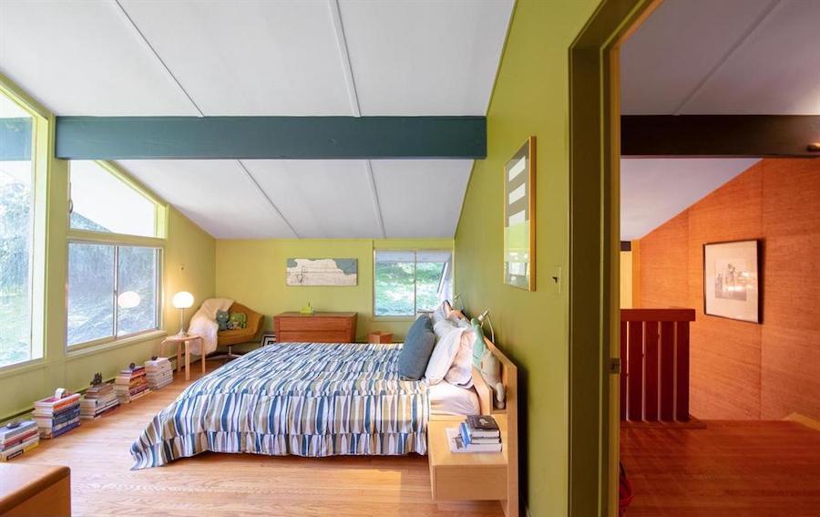 house for sale barren hill midcentury modern master bedroom