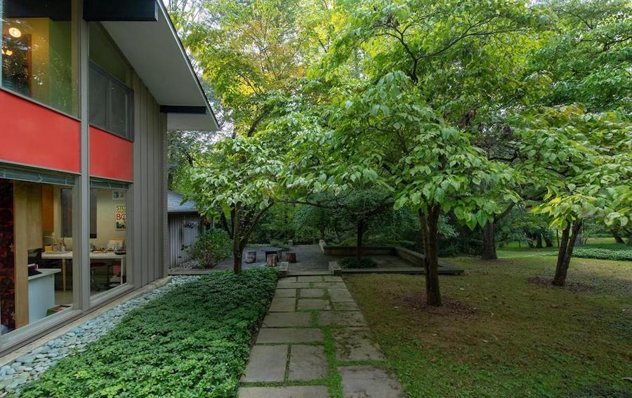house for sale barren hill midcentury modern side terrace