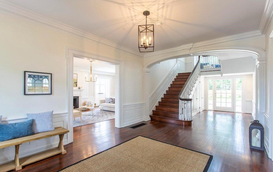 house for sale mt airy restored colonial foyer