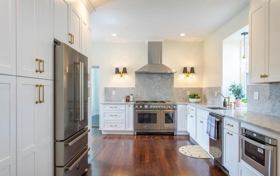 house for sale mt airy restored colonial kitchen