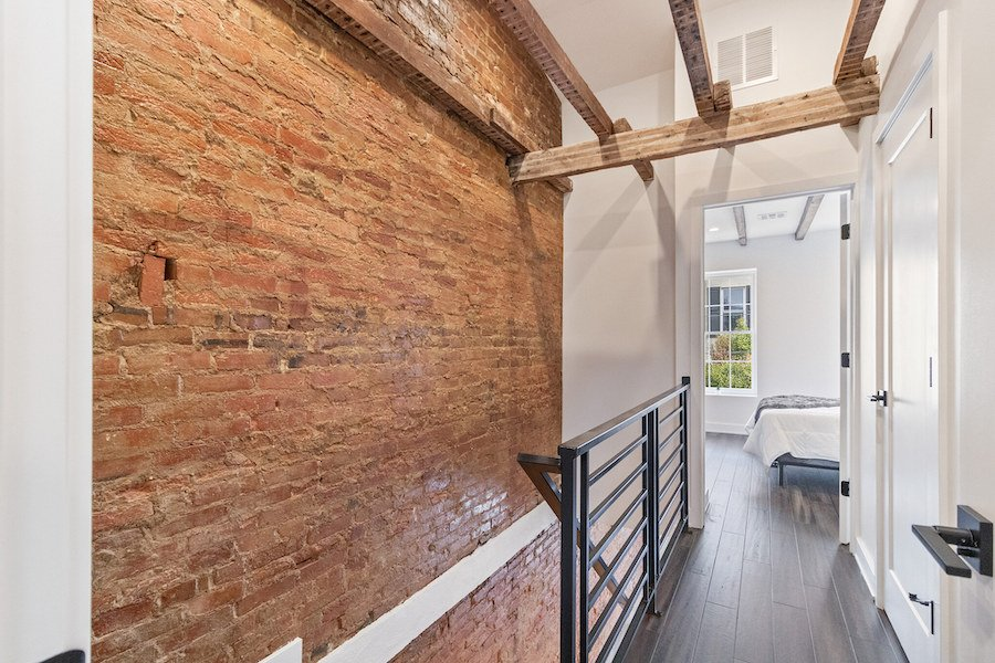 house for sale fishtown rehabbed rowhouse master suite hallway