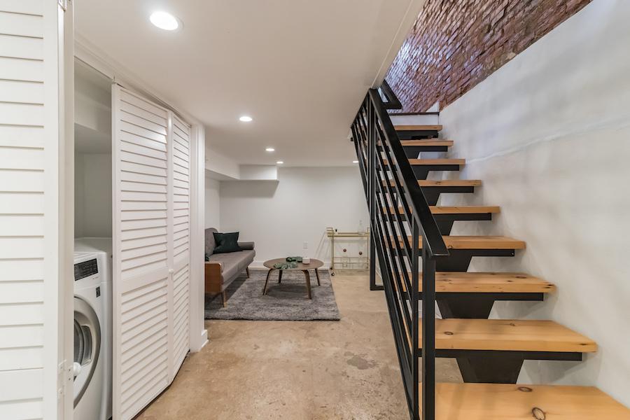 house for sale fishtown rehabbed rowhouse basement