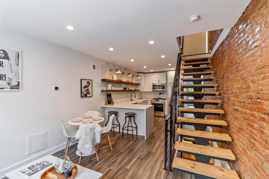 house for sale fishtown rehabbed rowhouse main floor