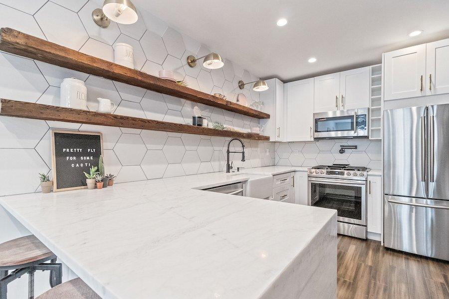 house for sale fishtown rehabbed rowhouse kitchen