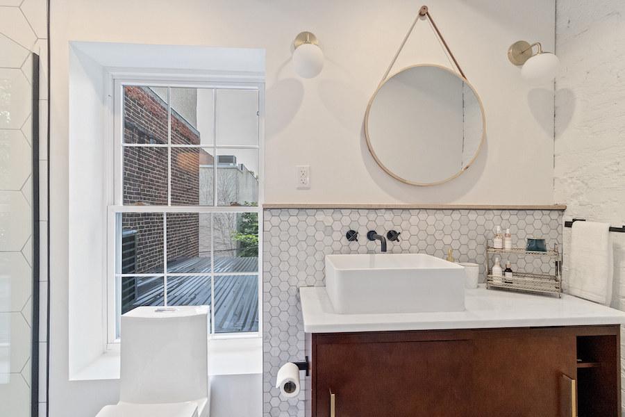 house for sale fishtown rehabbed rowhouse master-suite bathroom