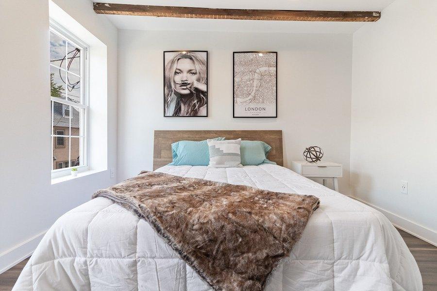 house for sale fishtown rehabbed rowhouse master bedroom