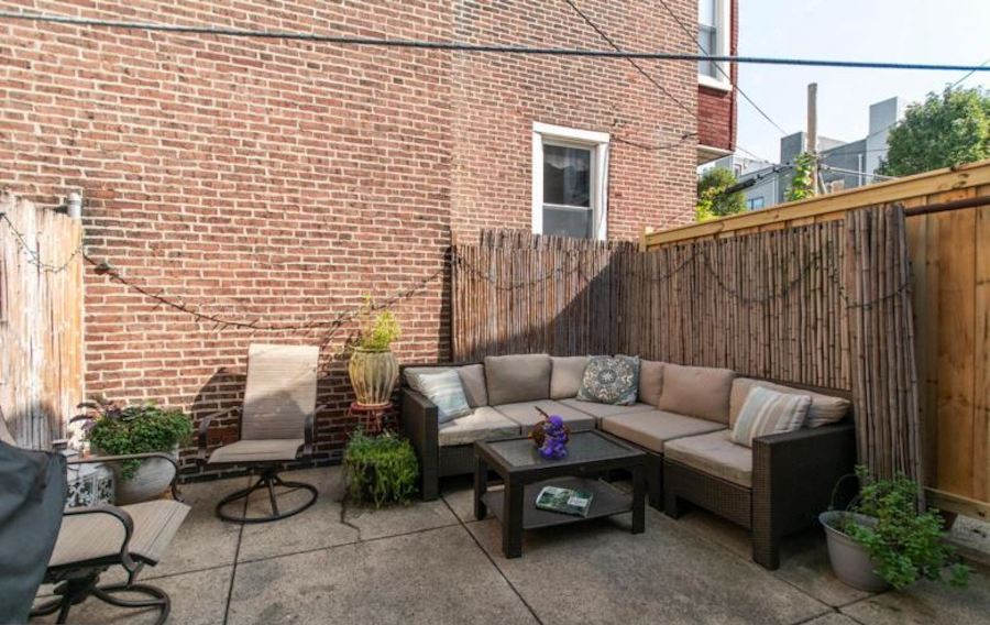 house for sale fishtown renovated rowhouse rear patio