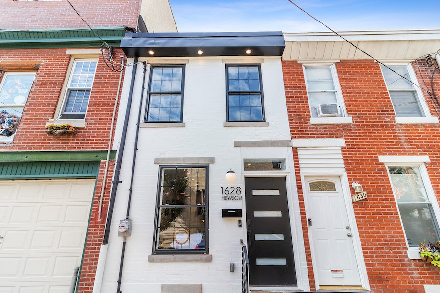 house for sale fishtown rehabbed rowhouse exterior front