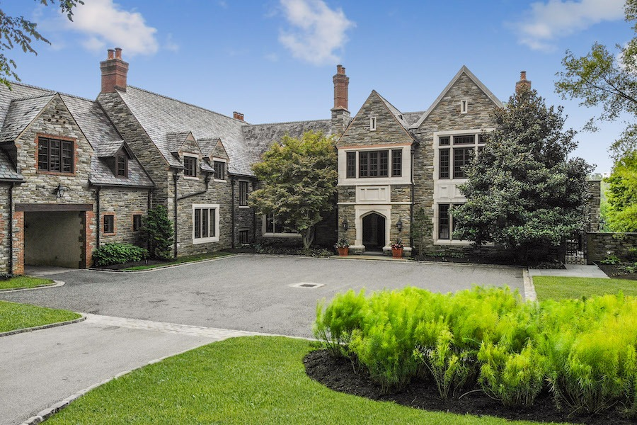 house for sale gladwyne barroway estate exterior front and forecourt