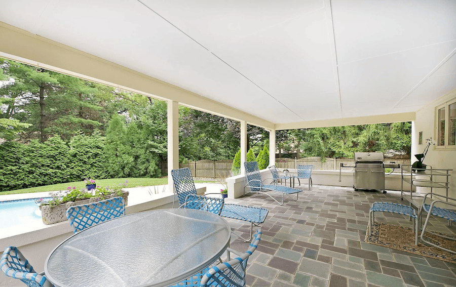 house for sale haverford contemporary rear patio