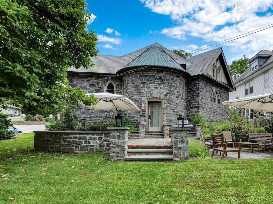 house for sale narberth converted church backyard