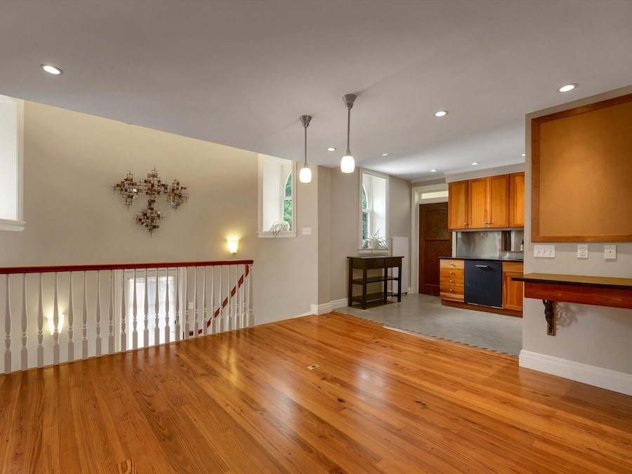 house for sale narberth converted church family room