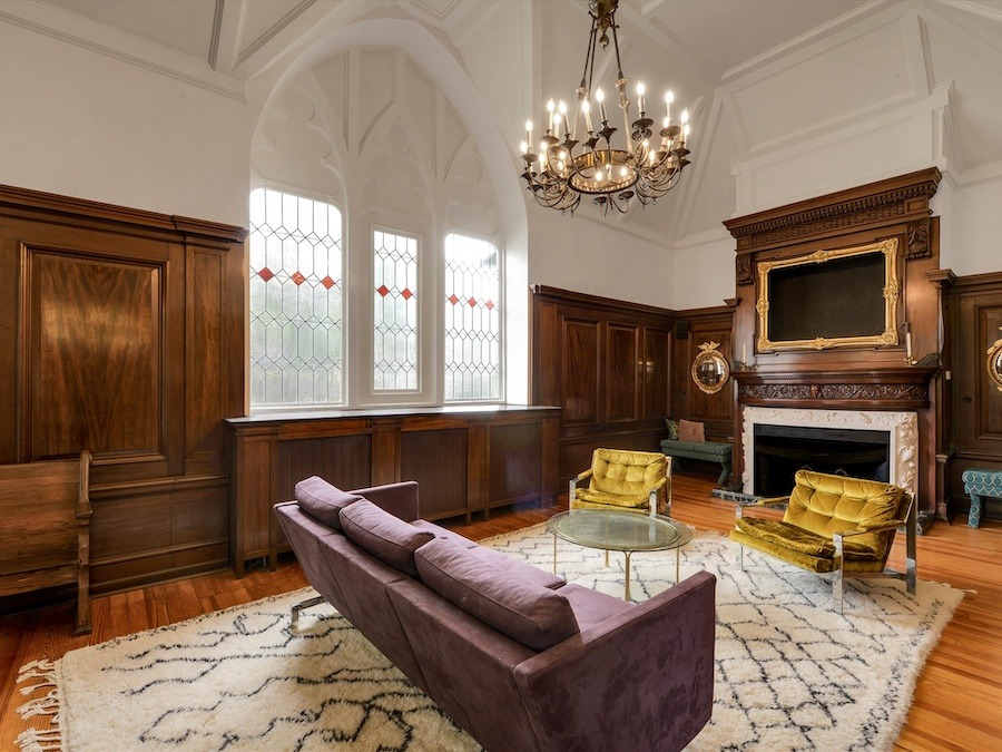 house for sale narberth converted church living room
