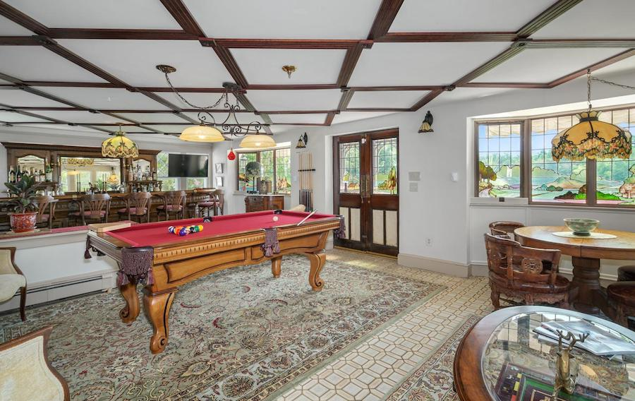 house for sale pine hill capone house game room and bar