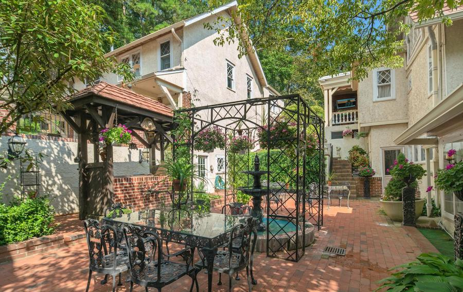 house for sale pine hill capone house courtyard