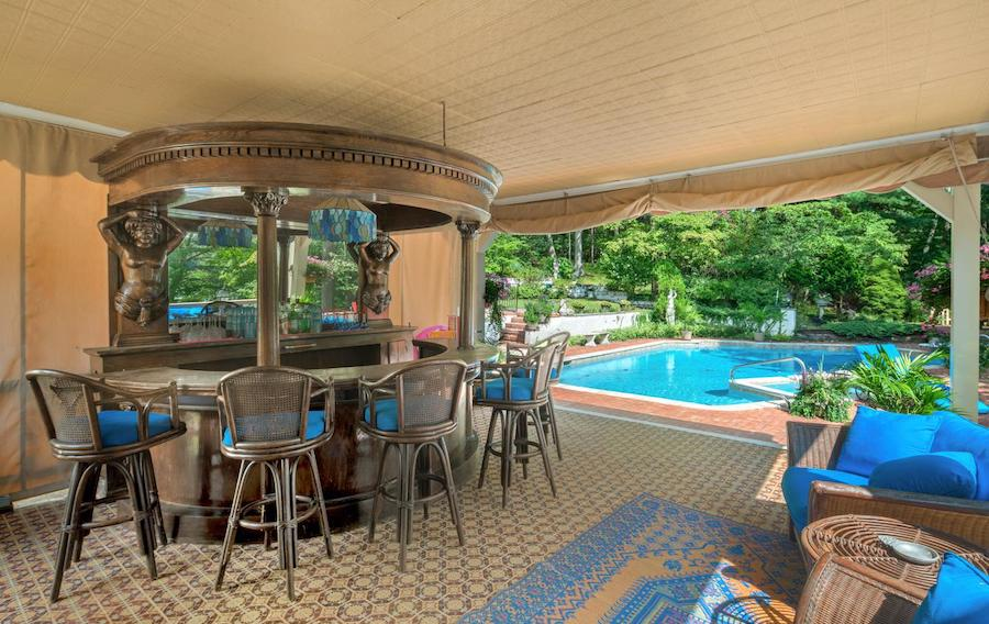 house for sale pine hill capone house pool and poolside bar