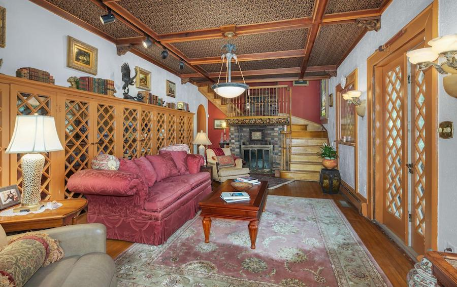 house for sale pine hill capone house library