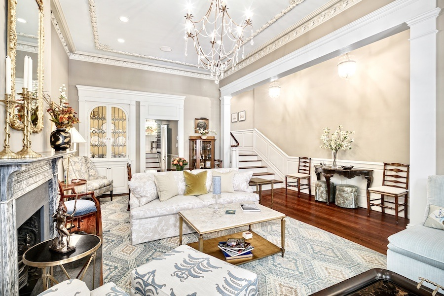 house for sale rittenhouse delancey mansion living room