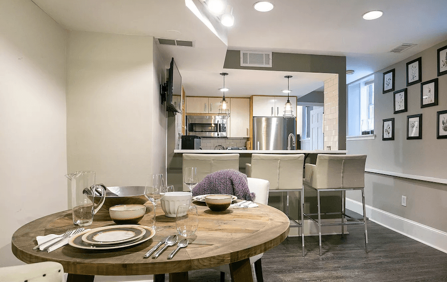 condo for sale society hill ground floor bi-level lower level dining/kitchen