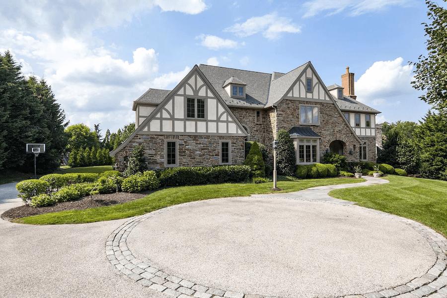 house for sale villanova custom tudor exterior front