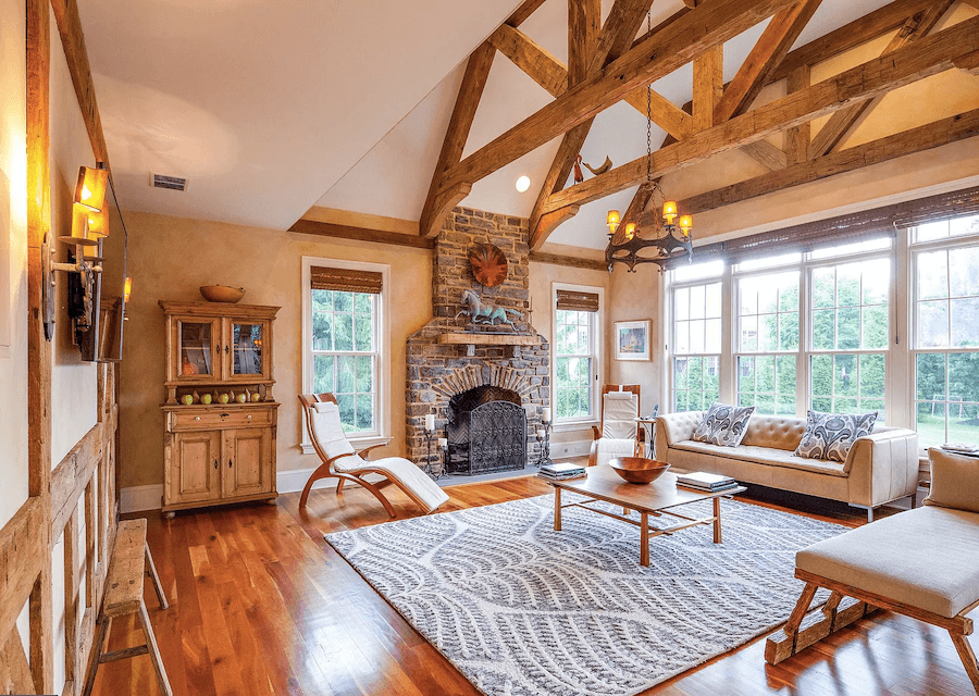 house for sale villanova custom tudor great room