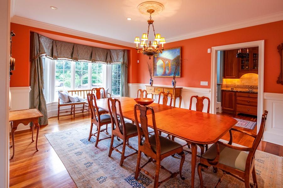 house for sale villanova custom tudor formal dining room