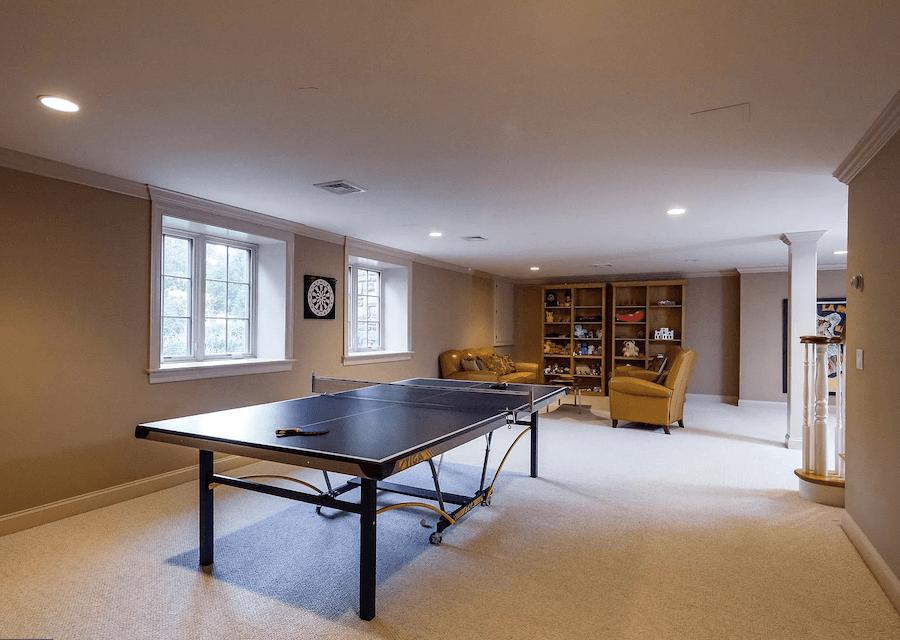 house for sale villanova custom tudor rec room