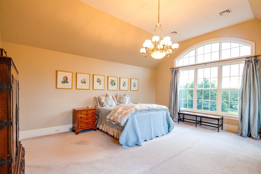 house for sale villanova custom tudor master bedroom