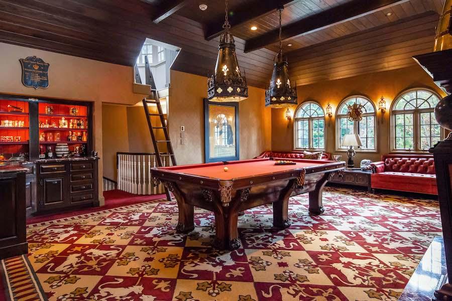 house for sale villanova norman mansion billiard room