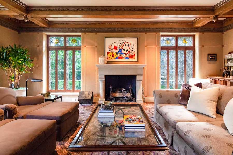 house for sale villanova norman mansion family room