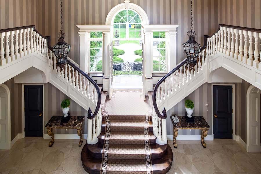 house for sale villanova norman mansion foyer