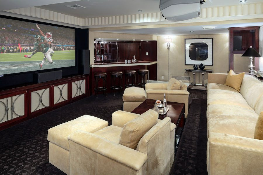 house for sale villanova norman mansion home theater