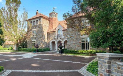 house for sale villanova norman mansion forecourt