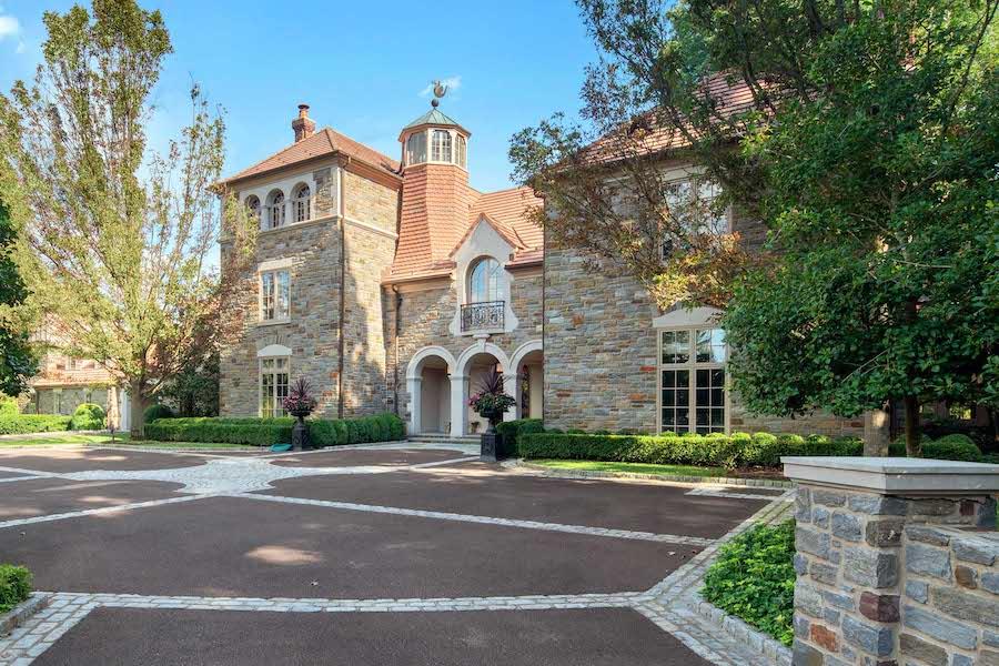 house for sale villanova norman mansion forecourt