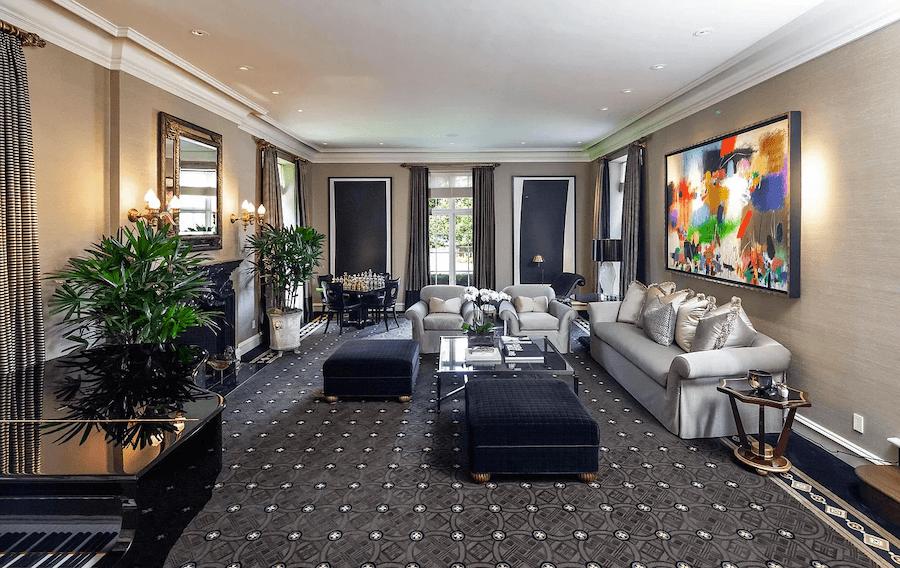 house for sale villanova norman mansion living room