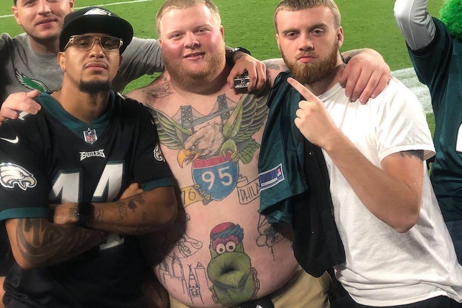 rob dunphy tattoos eagles