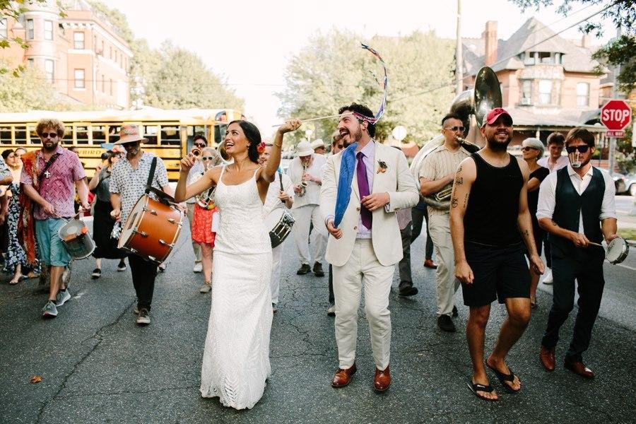 West Philadelphia wedding parade