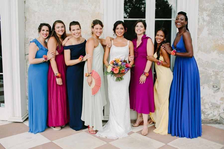 The Woodlands Mansion bridal party