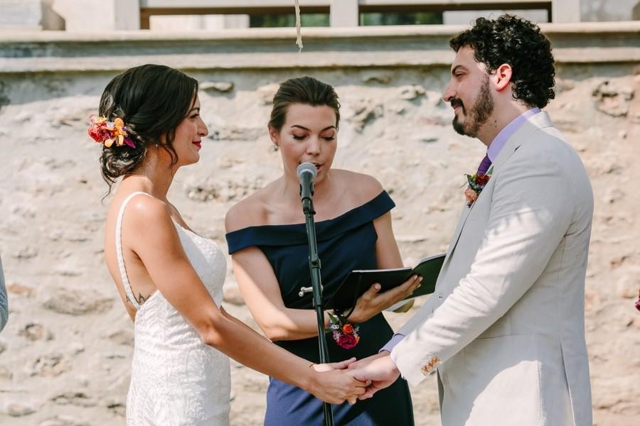 The Woodlands Mansion wedding ceremony