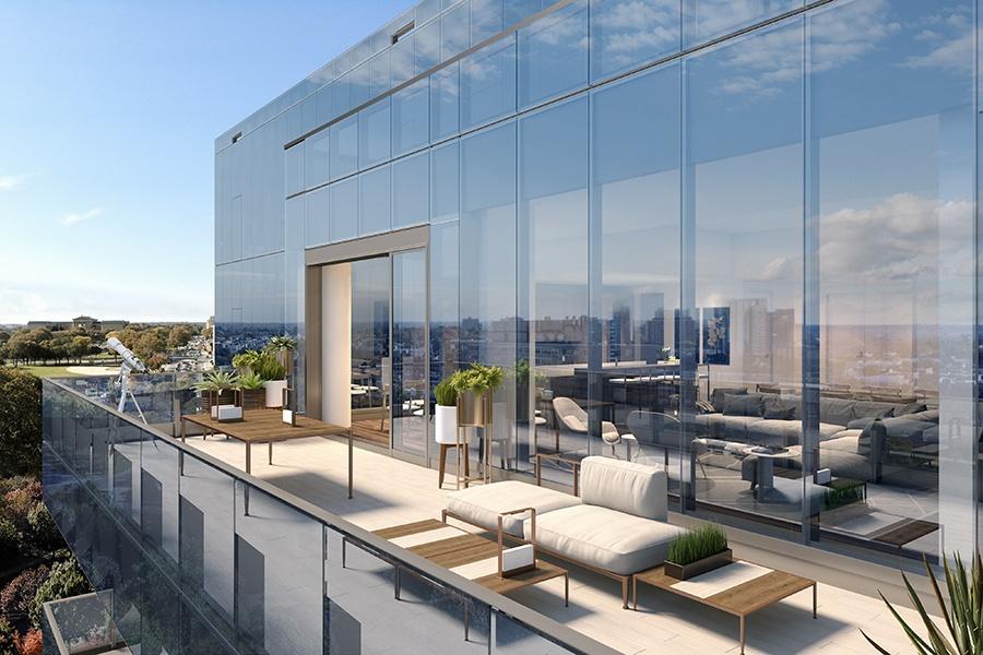2100 Hamilton penthouse balcony
